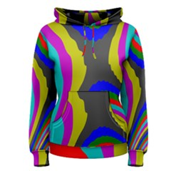 Pattern Rainbow Colorfull Wave Chevron Waves Women s Pullover Hoodie