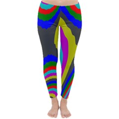 Pattern Rainbow Colorfull Wave Chevron Waves Classic Winter Leggings