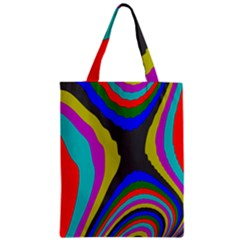 Pattern Rainbow Colorfull Wave Chevron Waves Zipper Classic Tote Bag by Alisyart