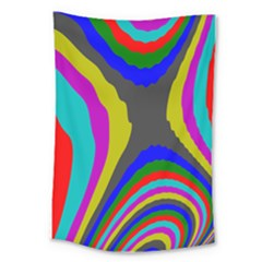 Pattern Rainbow Colorfull Wave Chevron Waves Large Tapestry