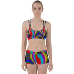 Pattern Rainbow Colorfull Wave Chevron Waves Women s Sports Set