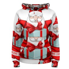 Merry Christmas Santa Claus Women s Pullover Hoodie