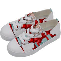 Merry Christmas Santa Claus Kids  Low Top Canvas Sneakers by Alisyart