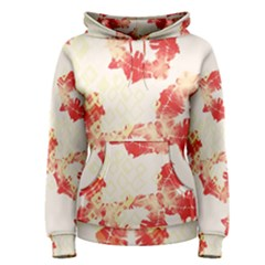 Pattern Flower Red Plaid Green Women s Pullover Hoodie
