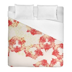 Pattern Flower Red Plaid Green Duvet Cover (full/ Double Size) by Alisyart