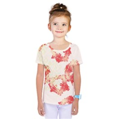 Pattern Flower Red Plaid Green Kids  One Piece Tee