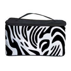 Psychedelic Zebra Pattern Black Cosmetic Storage Case by Alisyart