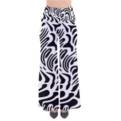 Psychedelic Zebra Pattern Black Pants