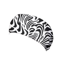 Psychedelic Zebra Pattern Black Yoga Headband by Alisyart