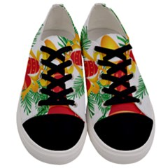 New Year Christmas Bells Tree Men s Low Top Canvas Sneakers