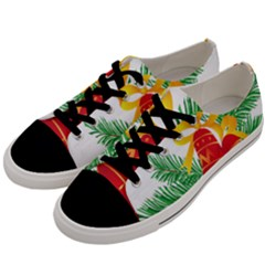 New Year Christmas Bells Tree Men s Low Top Canvas Sneakers by Alisyart