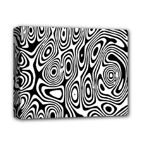 Psychedelic Zebra Black Circle Deluxe Canvas 14  X 11