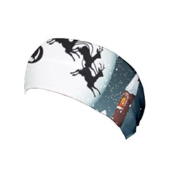Santa Claus Christmas Snow Cool Night Moon Sky Yoga Headband