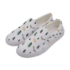 Squirrel Rabbit Tree Animals Snow Women s Canvas Slip Ons by Alisyart