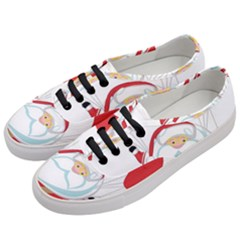 Skydiving Christmas Santa Claus Women s Classic Low Top Sneakers by Alisyart