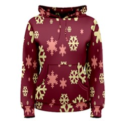 Snowflake Winter Illustration Colour Women s Pullover Hoodie