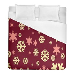 Snowflake Winter Illustration Colour Duvet Cover (full/ Double Size) by Alisyart