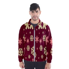 Snowflake Winter Illustration Colour Wind Breaker (men)