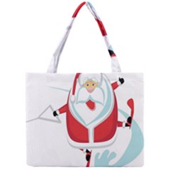 Surfing Snow Christmas Santa Claus Mini Tote Bag by Alisyart
