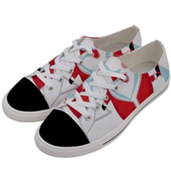 Surfing Snow Christmas Santa Claus Women s Low Top Canvas Sneakers by Alisyart