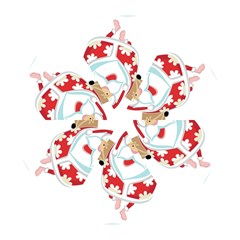 Surfing Christmas Santa Claus Mini Folding Umbrellas