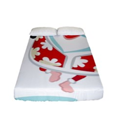 Surfing Christmas Santa Claus Fitted Sheet (full/ Double Size)