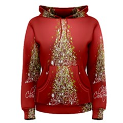 Tree Merry Christmas Red Star Women s Pullover Hoodie
