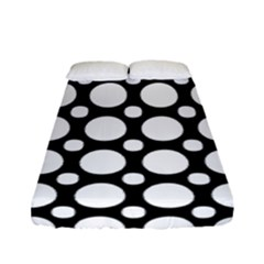 Tileable Circle Pattern Polka Dots Fitted Sheet (full/ Double Size)