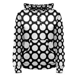 Tileable Circle Pattern Polka Dots Women s Pullover Hoodie
