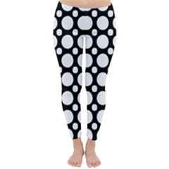 Tileable Circle Pattern Polka Dots Classic Winter Leggings