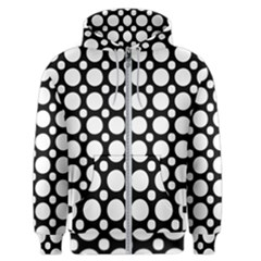 Tileable Circle Pattern Polka Dots Men s Zipper Hoodie
