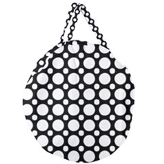 Tileable Circle Pattern Polka Dots Giant Round Zipper Tote by Alisyart