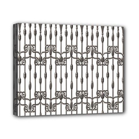 Iron Fence Grey Strong Canvas 10  X 8