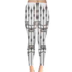 Iron Fence Grey Strong Leggings