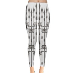 Iron Fence Grey Strong Classic Winter Leggings