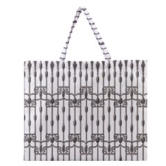Iron Fence Grey Strong Zipper Large Tote Bag by Alisyart