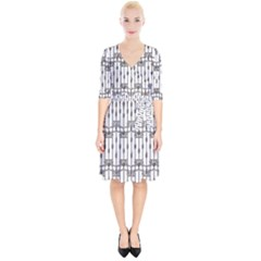 Iron Fence Grey Strong Wrap Up Cocktail Dress