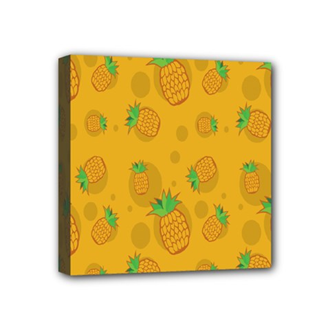 Fruit Pineapple Yellow Green Mini Canvas 4  X 4  by Alisyart