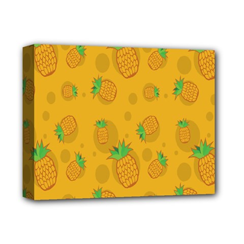 Fruit Pineapple Yellow Green Deluxe Canvas 14  X 11