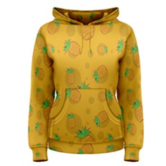 Fruit Pineapple Yellow Green Women s Pullover Hoodie