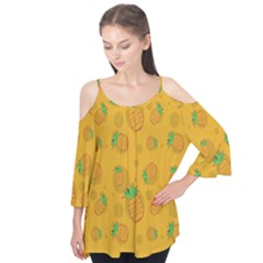 Fruit Pineapple Yellow Green Flutter Tees by Alisyart