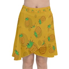 Fruit Pineapple Yellow Green Chiffon Wrap