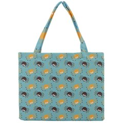 Spider Grey Orange Animals Cute Cartoons Mini Tote Bag by Alisyart