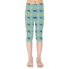 Spider Grey Orange Animals Cute Cartoons Kids  Capri Leggings  by Alisyart