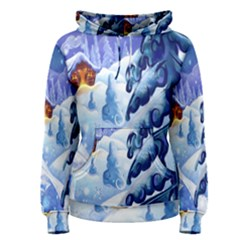 Christmas Wooden Snow Women s Pullover Hoodie