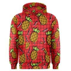 Fruit Pineapple Red Yellow Green Men s Pullover Hoodie