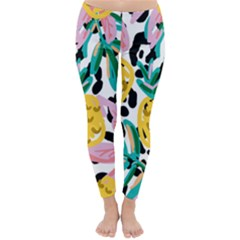 Fruit Pattern Pineapple Leaf Classic Winter Leggings