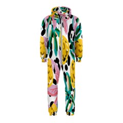 Fruit Pattern Pineapple Leaf Hooded Jumpsuit (kids)