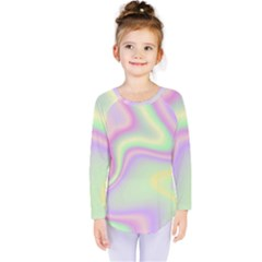 Holographic Design Kids  Long Sleeve Tee