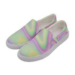 Holographic Design Women s Canvas Slip Ons by tarastyle